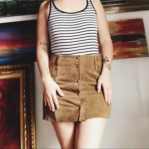 Vintage Leather Old Navy Button Up Skirt